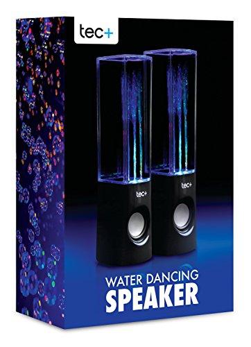 tec dancing water speakers tragbare usb lautsprecher mit buntem led wasserspiel lichteffekt f r. Black Bedroom Furniture Sets. Home Design Ideas